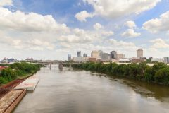 Downtown Nashville skyline and Cumberland River